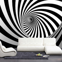 Black And White Swirl Line Photo Wallpaper Modern Abstract 3D Wall Mural Wall Cloth Living Room TV Sofa Office Art Wall Covering