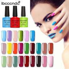Cartilha Gel Unha Polonês 10 IBCCCNDC ML 79 COR Soak-Off UV Prego LED Arte Design de Unhas Vernizes Gel verniz Gel unha Top Coat de Base(China)
