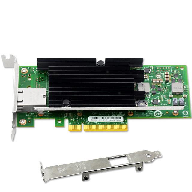 10G Adaptador de Rede Ethernet 10-Gigabit Controlador PCIe Cartão Suporte de Baixo Perfil