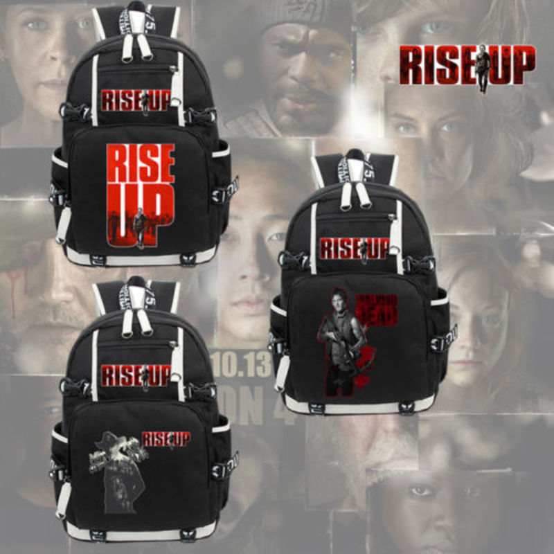 The Walking Dead Rise Up Backpack Knapsack Packsack Travel Student School Bags Bookbag Unisex Black Shoulder Laptop Bags Gift блендер galaxy gl2100
