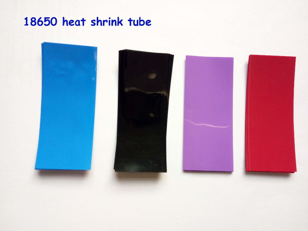 20pcs 18650 shrink wrap PVC heat shrink tube cable sleeves 18650 battery wrap
