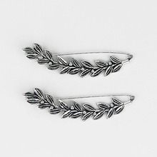 5pcs Large Antique Silver Tone Wicker Leaf Durable Strong Metal Shawl Kilt Scarf Brooch Safety Pin