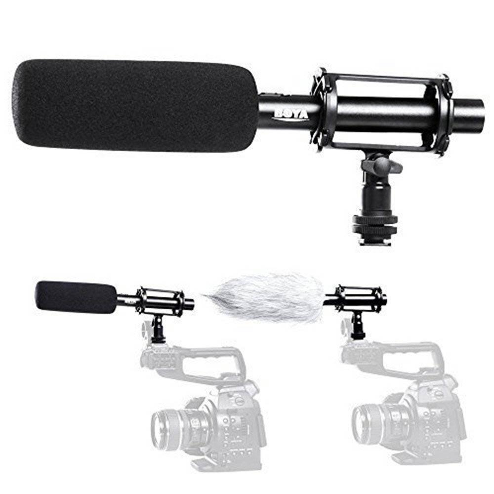BOYA BY-PVM1000 Professional Condenser Shotgun Microphone Interview Video Reporting for Canon Nikon Sony DSLR Cameras