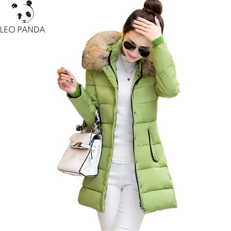 2017 New Winter Women Padded Jacket High Quality Ladies Wadded Coat Warm Cotton Coat Fashion Long Zipper Parkas Plus Size WQ481 high quality women winter parkas 2017 new fashion female medium long loose cotton padded wadded jacket coat plus size 3xl cxm206