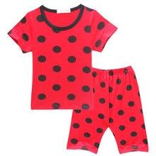 9efff7a90 Lady Bug T Shirt For Girls + Pants Shorts Summer T-shirts Cartoon Polka Dot  Ladybug Polka Dot Pajama Set Trolls Kids Clothes