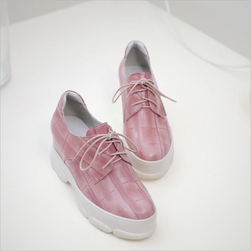 Las Del Lazo Zapatos Nueva Dedo Primavera Rosa Pie Casuales Encaje Negro Bombas 2019 pink De Mujeres Moda Otoño Black Redondo vq7rpxvw