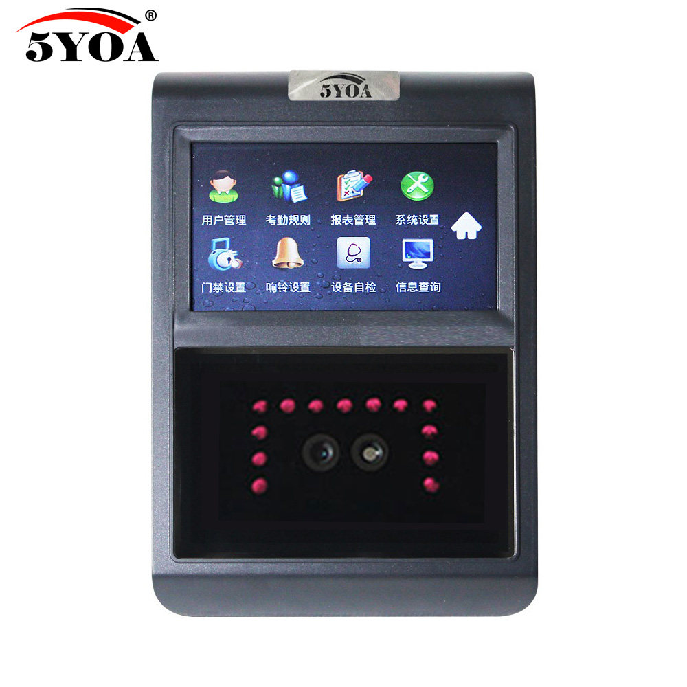 5YOA F5FY Face Facial TCP IP Attendance Access Control Biometric Time Clock Recorder Employee Electronic Standalone Reader5YOA F5FY Face Facial TCP IP Attendance Access Control Biometric Time Clock Recorder Employee Electronic Standalone Reader
