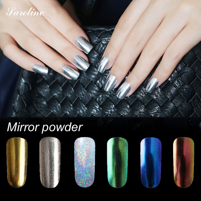 Saroline Magic Look Mirror Pigment Glitter Nail Art Powder For Gel Polish Metallic