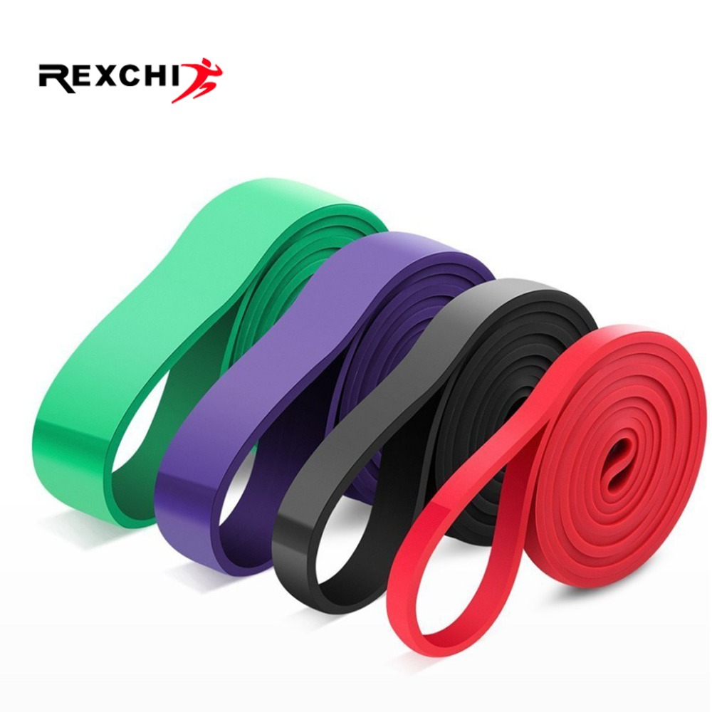 REXCHI Gym Fitness Resistance Bands Yoga Stretch Pull Up Assist Bands Rubber Crossfit Exercise Training Workout Equipment