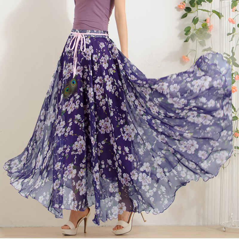 Compare Prices on Long Flower Skirt- Online Shopping/Buy Low Price ...
