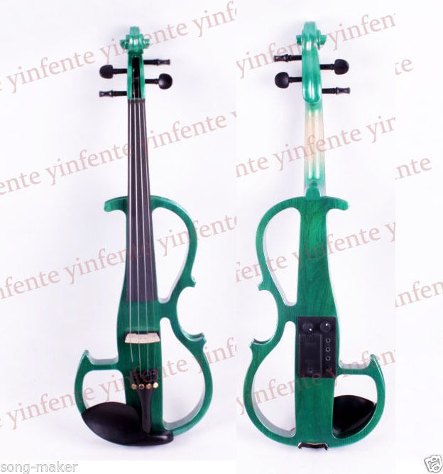 New Violin Electric violin Solid wood silent patent 4/4 4 4 electric violin patent silent pickup 2 05