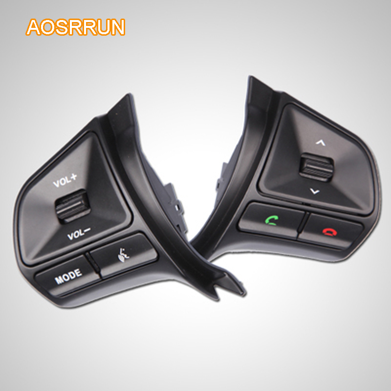 AOSRRUN original Steering wheel Audio channel control button Car AccessoriesFor 2010 2011 2012 2013 KIA Rio K2 sedan hatchback ...