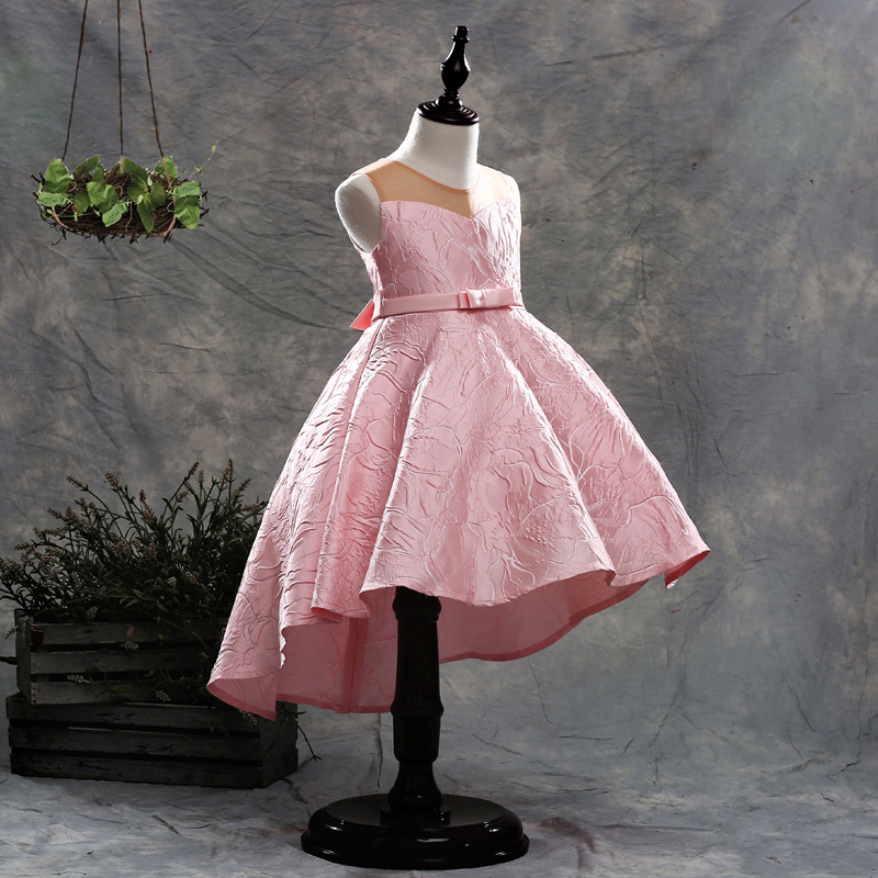 Pink Princess Dress Girls Sleeveless Kids Evening Gowns Ball Gown Pageant Dresses for Girls Flower Girl Dresses 2018 pink butterfly flower girl dresses 2018 first communion dress for girls gowns tulle ball gown floor length girls pageant dress