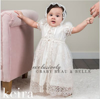 Baby Girl Dresses Embroidery Pearl 1 Year Birthday Dress Wedding Party Christening Baby Girl Clothes For
