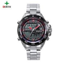 North Digital Sport Watch Men 2017 Fashion Multifunction Male Wristwatch Military Waterproof Round Alarm Quartz Sport Watch Men