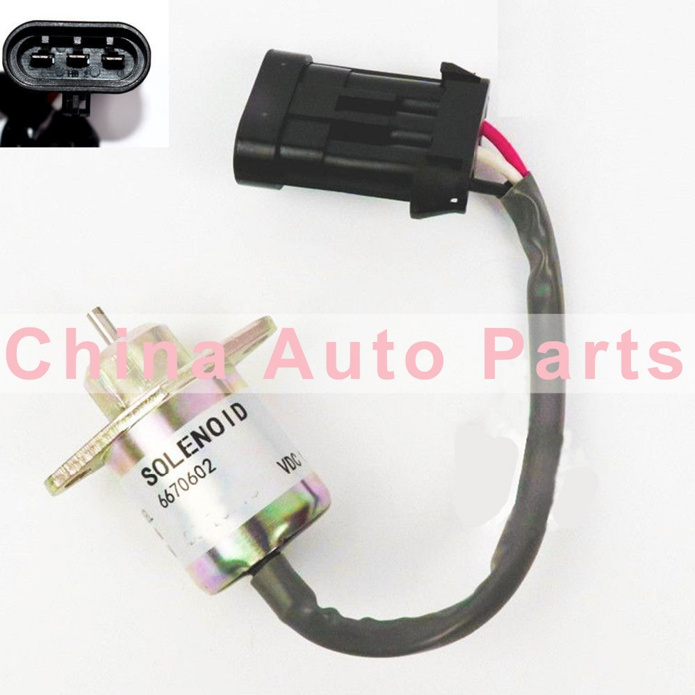 medium resolution of new fuel shut off solenoid valve 6670602 for bobcat 463 553 s70 s100 12v in valves parts from automobiles motorcycles on aliexpress com alibaba group