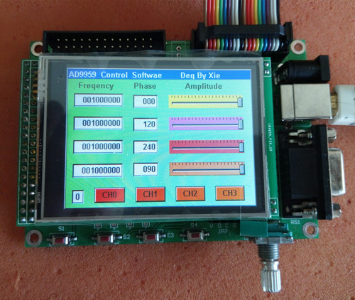 Módulo DDS multicanal AD9959 módulo STM32TFT pantalla de Color pantalla táctil frecuencia de Control de codificador rotatorio