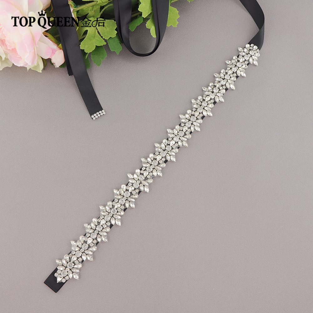 TOPQUEEN S269 Women Belt Girls Rhinestones Crystals Wedding Belts Wedding Sashes Rhinestones Crystals Bridal Belts Bridal Sashes
