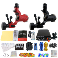 Tattoo Kit 2 dragonfly rotary tattoo machine Set Power Supply Needles Permanent Make Up Professional