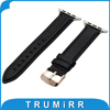Top Layer Oil Wax Genuine Leather Watchband For IWatch Apple Watch 38mm 42mm Band Stainless Steel