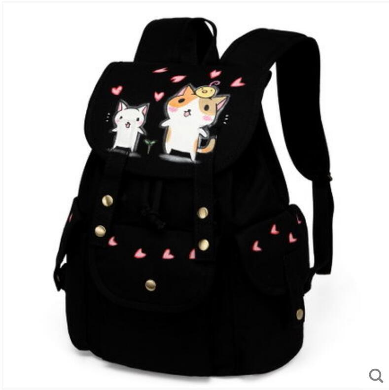 Persönlichkeit Hohe Student Tasche 2018 Kapazität Große Rucksack Weiblichen Leinwand Neue Koreanische Schule q4S4Ir