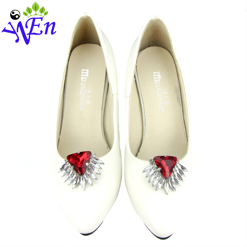 shoes clips decorative shop Shoe accessories shoe clip crystal rhinestones charm metal material N520