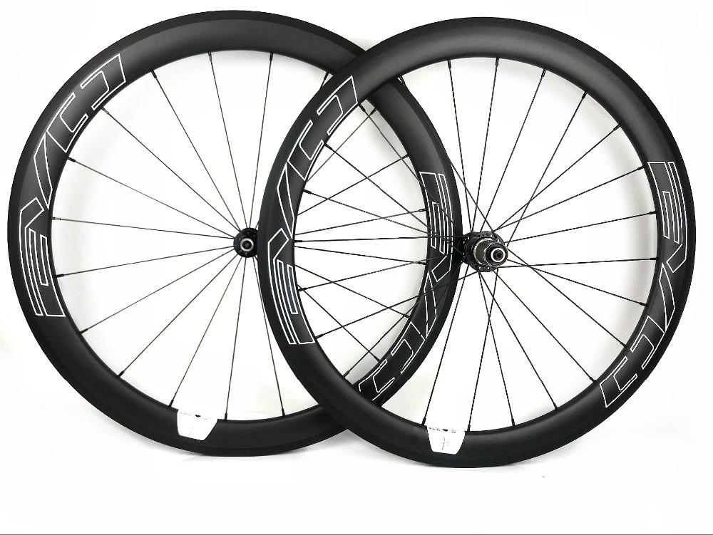 EVO white decals 700C Road bike carbon wheels 50mm depth 25mm width clincher/Tubular Road Bicycle carbon wheelset UD matte
