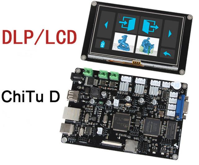 Livre o Navio DLP/LCD Mainboard fotopolimerização 3D Impressoras Motherboard painel de controle touch-screen para ChiTuD diy Controle Offline placa