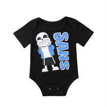 Top Newborn Baby Boy Girl Black Bodysuit Jumpsuit Summer Clothes Outfit Sunsuit Short Sleeve Funny Clothing