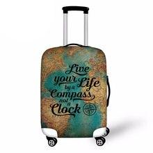 Модный защитный чехол для чемодана с принтом путешествий 18