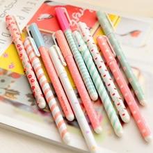 set Color Gel pen Kawaii Stationery korean flower Canetas escolar papelaria zakka