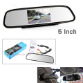 "High resolution 2.4 G Wireless 5"" Color HD TFT Car Rearview Mirror Monitor 800*480 16:9 screen DC 12V for DVD Camera"