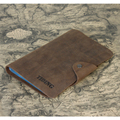 TIDING Business card holder vintage soft leather case can hold 90 cards  50122