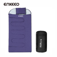 Enkeeo Left Right Hands Zip Sleeping Bags Envelope Style Camping Hiking Cotton Lightweight Compact Camping Sleeping