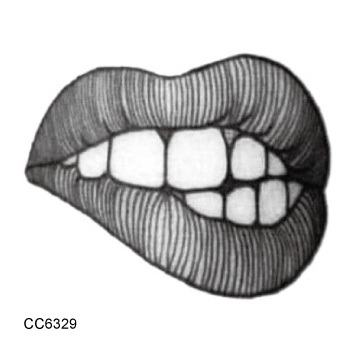 CC6329 6X6cm Little Sexy Old School Style Sex Temptation Lip Of Women Temporary Tattoo Sticker Body Art Water Transfer Fake Taty