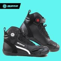 Hot Original SCOYCO Motorcycle Boots Men Casual Fashion Leather Wear Shoes Breathable Anti-skid Protection Botas De Motociclista