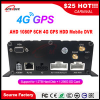 Source factory SD card + hard disk remote monitoring host AHD 1080P 2 million pixel 4G GPS MDVR crane /excavator/harvester