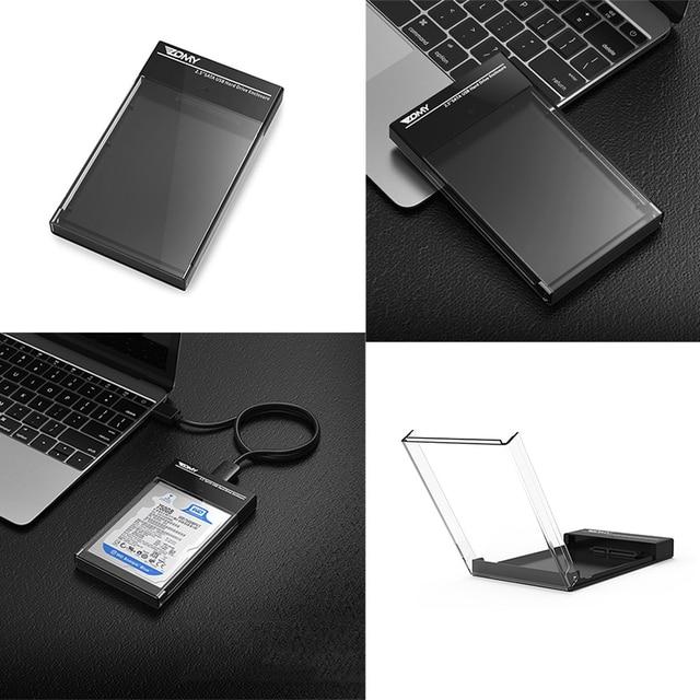 2.5 นิ้ว SATA HDD Sata USB 3.0 SSD HD ฮาร์ดดิสก์ไดรฟ์ภายนอก Enclosure สำหรับ ps4 ทีวีคอมพิวเตอร์ Router