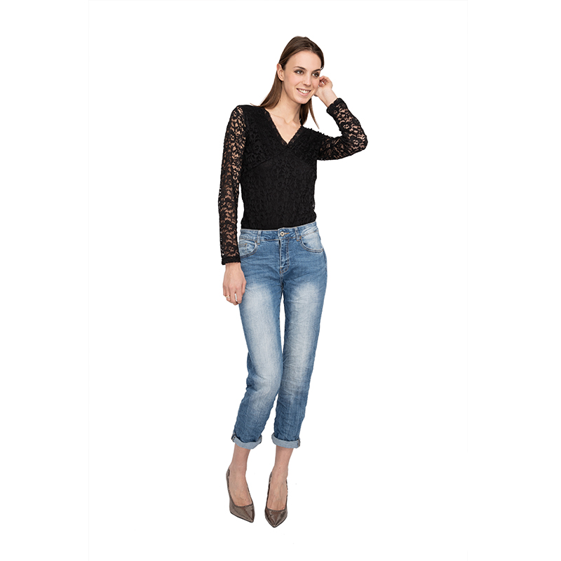 My Will Jeans Blue Cotton Retro Boyfriend No Holes In The Hole Fashion 1213 Made In China