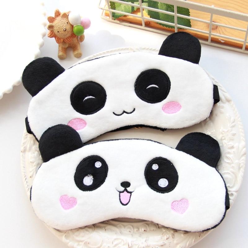 1pc Cartoon Panda Cat Eye Mask Stuffed Kawaii Plush Animals Shade Light Cover Mask Special Sleep Gifts For Kids Girls