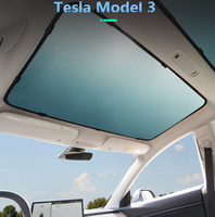 2Pcs/set Anti UV Breathable Sunroof Sunshade For Tesla Model 3 Glass Roof Sunshade Car Skylight Blind Shading Fly Net