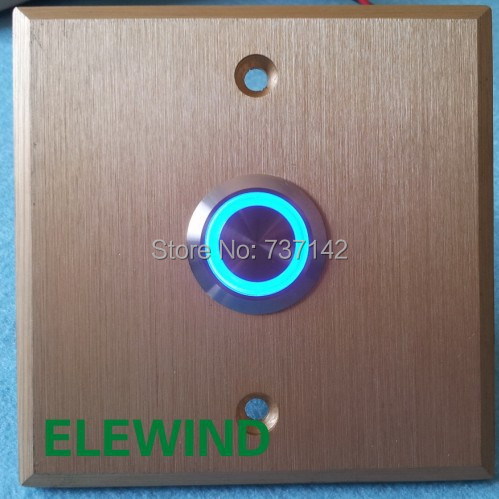 цена на ELEWIND 22mm door bell push button switch(PM221F-11E/B/12V/S with golden plate)