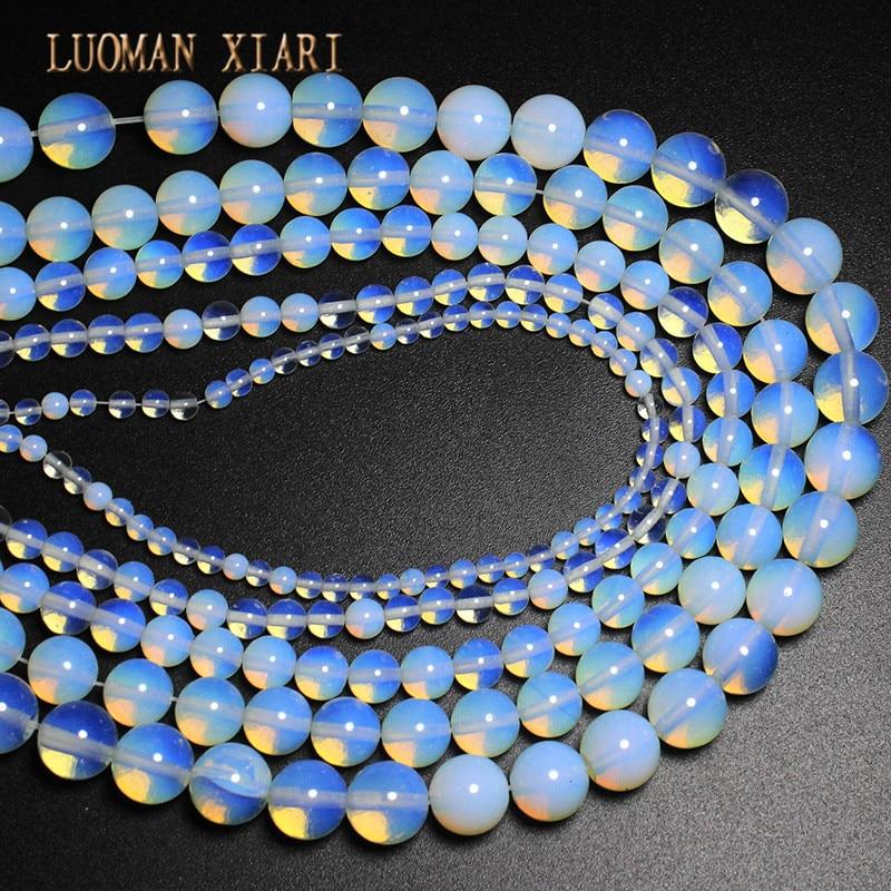 Grosir DIY Putaran Opal Batu Alam Beads Untuk Membuat Perhiasan DIY - Perhiasan fashion - Foto 2