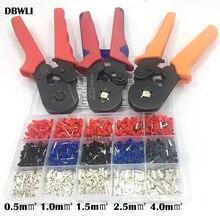 1530 pces 0.25 10mm2 23 10awg hsc8 6 4/6 6 0.25 6mm2 alicate de friso terminais de tubo elétrico caixa braçadeira ferramentas kit virola crimper