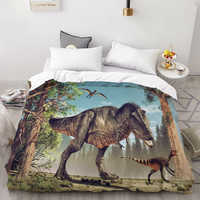 3D HD Digital Printing Custom Duvet Cover,Comforter/Quilt/Blanket case Single Bedding 140x200 Cartoon Dinosaurs Drop Shipping