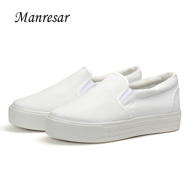 Manresar 2017 Women Flat Shoes Spring Summe Slip-on Canvas Women Fashion Casual Shoes Women Canvas Platform Shoes Size 35-40 free shipping new arrival 2017 women trendy candy colored slip on canvas shoes platform canvas casual loafers size 35 40