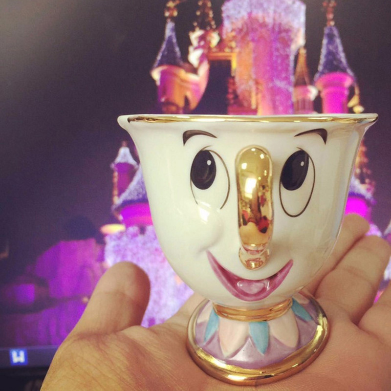 TOP SALE Beauty and the Beast Coffee Cup Mrs Potts son Chip Lovely Birthday Gift La Bella Y La Bestia Creative Copa Ceramic