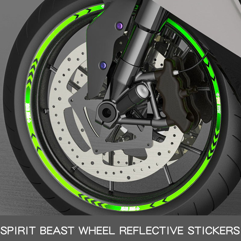 Motorcycle tyre paste reflective stickers motorbike reflective motocross wheels 10 inch 18 inch wheels STICKERS FREE SHIPPING