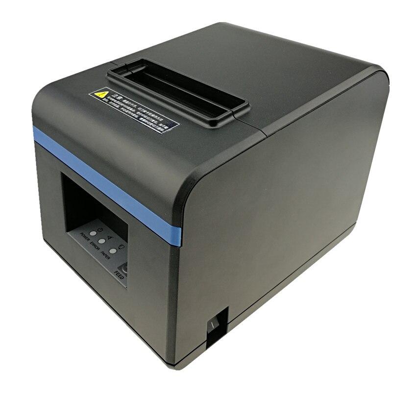 Высокое качество 80 мм Термопринтер чеков кухня Ресторан POS принтер с автоматической функцией резака стильный внешний вид