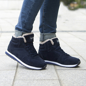 Image 3 - 2019 Mens Sneakers Winter Plush Snow Casual Shoes Men Keep Warm Shoes Male Sneakers Outdoor Walking Krasovki Zapatillas Hombre